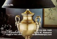 Nicoletti's House of Fine Lamps Ad